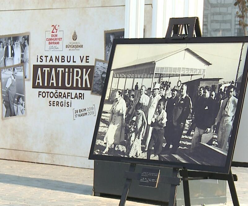Sultanahmet'te Atatürk sergisi açıldı