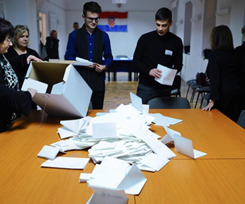 Hırvatistan'da oy kullanma işlemi sona erdi