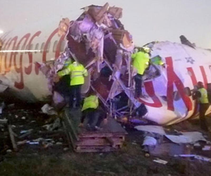 Uçağın pistten çıkmasının ardından telsiz konuşmaları ortaya çıktı