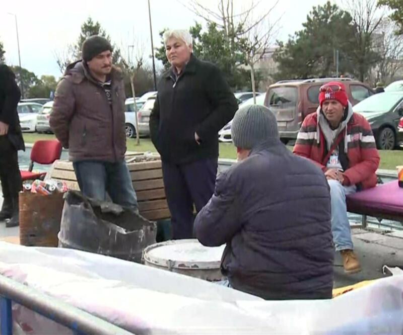 İBB'de işten çıkarılan işçiler, eylemlerinin 174. gününde