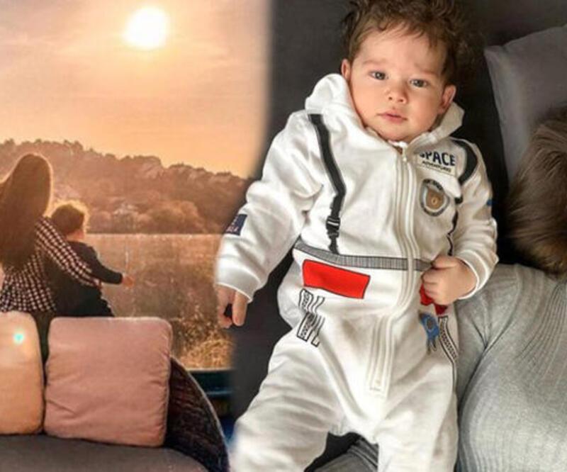 Fahriye Evcen oğlunun doğum gününü kutladı: Hep iyi ol Karan'ım!