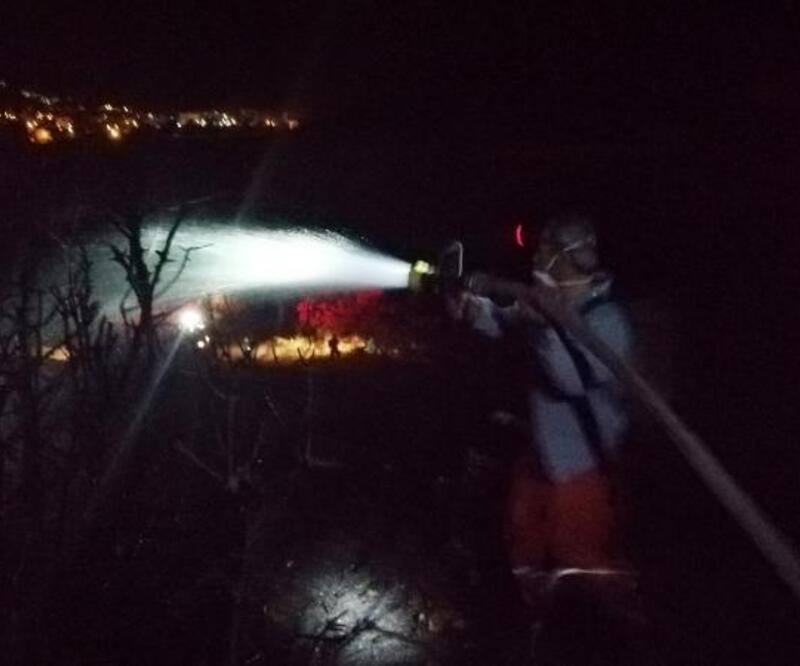 Gazipaşa'da arazi yangını