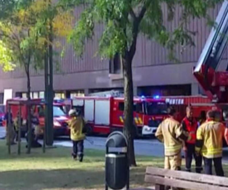 Son dakika haberi... Dünya Ticaret Merkezi'nde yangın | Video