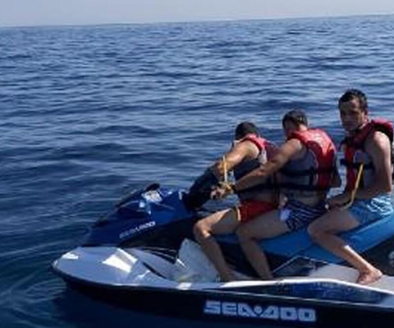 Yunanistan'a jet ski ile kaçmaya çalışan FETÖ'cüler yakalandı | Video