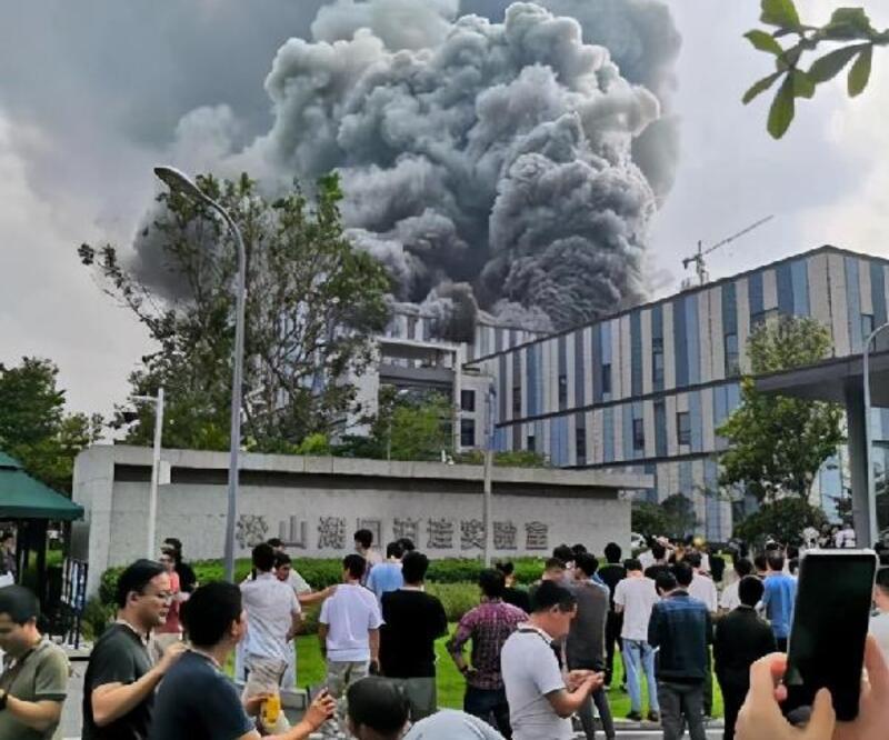 Son dakika... Çin'de Huawei laboratuvarında dev yangın