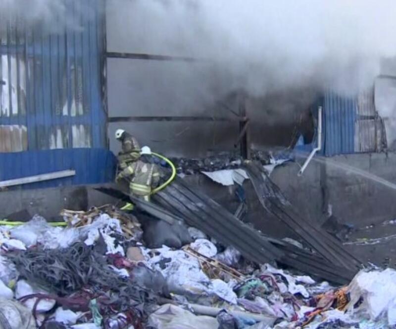 Geri dönüşüm tesisinde yangın | Video