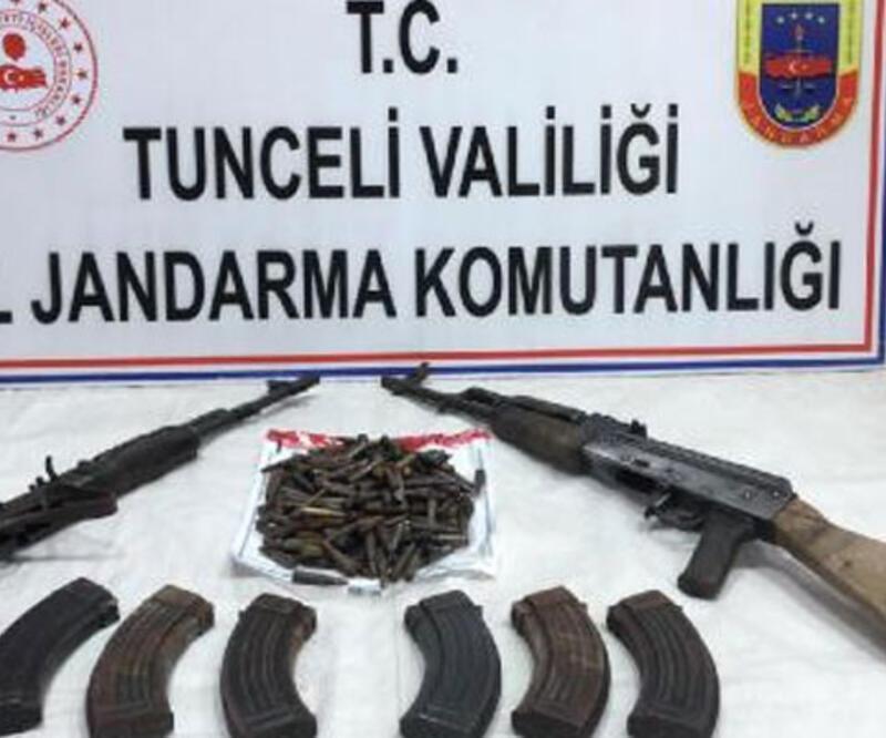 Tunceli'de, 3 terör örgütüne operasyonda silah ve mühimmat ele geçirildi