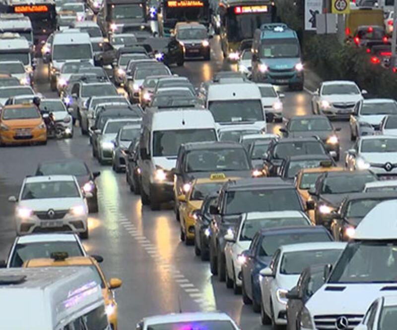 Son dakika haberi... İstanbul'da trafik yoğunluğu! Trafik yoğunluk haritası