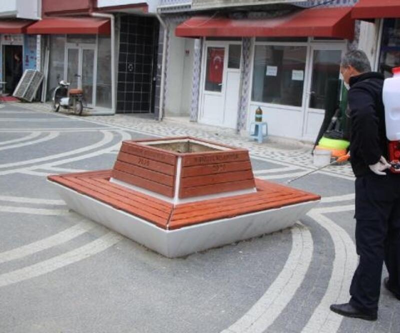 Hisarcık Belediyesi'nden dezenfektan çalışması
