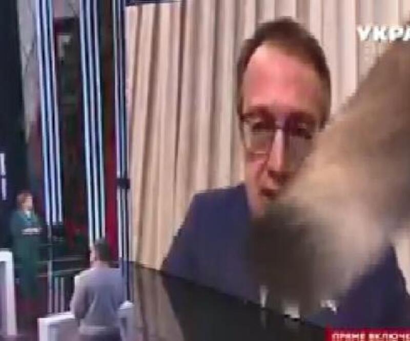 Ukraynalı bakan yardımcısının canlı yayında kediyle imtihanı