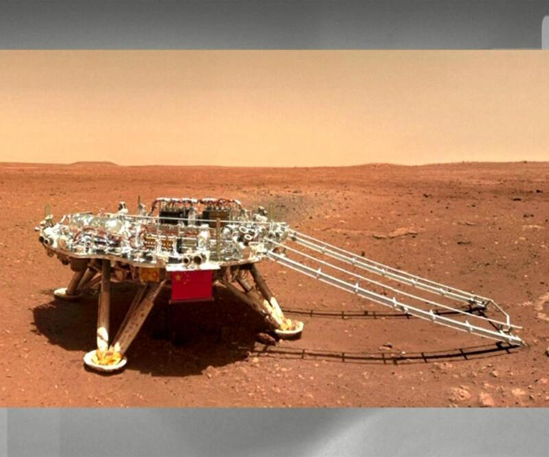 Kızıl Gezegen'den yeni fotoğraflar