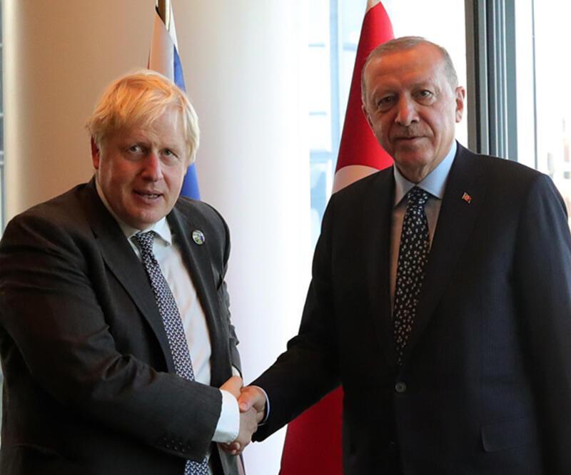 Cumhurbaşkanı Erdoğan, Boris Johnson ve Guterres ile görüştü