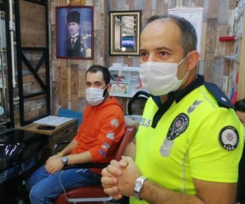 Çorum'da trafik polislerinden, emniyet kemeri için videolu farkındalık