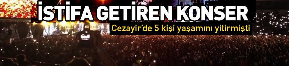 Cezayir'de konserdeki izdiham Kültür Bakanı'nın istifasını getirdi