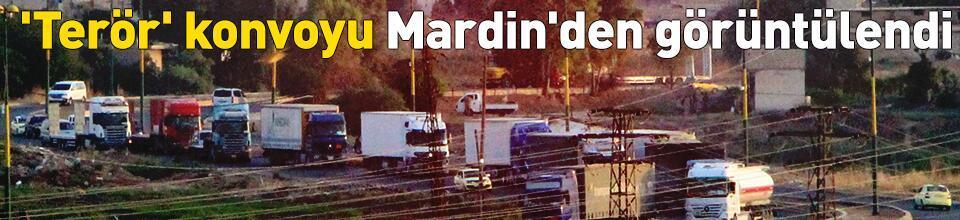'Terör' konvoyu Mardin'den görüntülendi