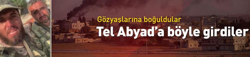 Suriye Milli Ordusu komutanları Tel Abyad'da sevinç gözyaşları döktü
