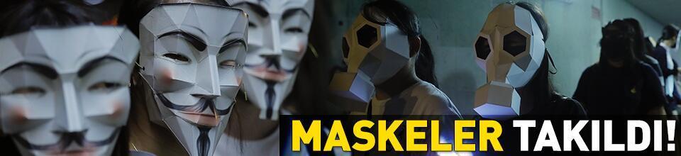 Maskeler takıldı!