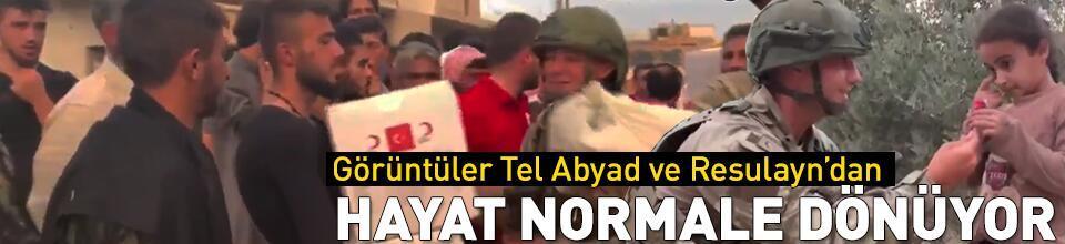 Tel Abyad ve Resulayn'da hayat normale dönüyor