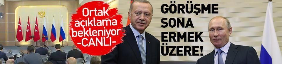Erdoğan - Putin görüşmesi sona ermek üzere