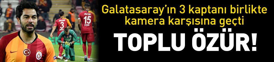 Galatasaray'ın 3 kaptanı canlı yayında özür diledi