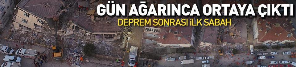 Elazığ'da çok şiddetli deprem! Gün ağarınca ortaya çıktı