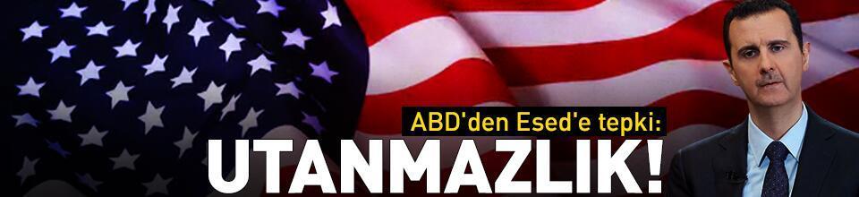 ABD'den Esed'e tepki: Utanmazlık
