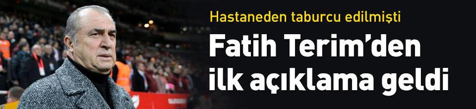 Fatih Terim'den ilk açıklama
