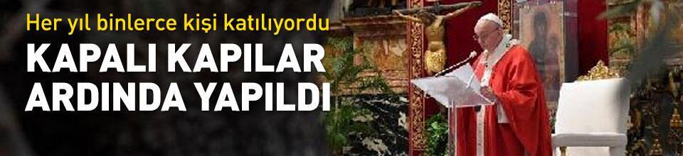 'Kutsal Hafta' duası kapalı kapılar ardında yapıldı