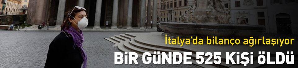 İtalya'da bir günde 525 kişi hayatını kaybetti