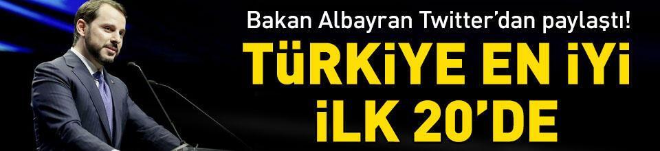 Türkiye en iyi ilk 20'de