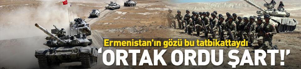 """Ortak ordu şart"""