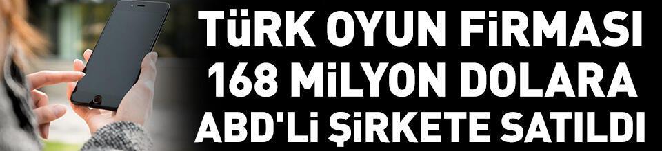 Türk oyun firması 168 milyon dolara ABD'li şirkete satıldı
