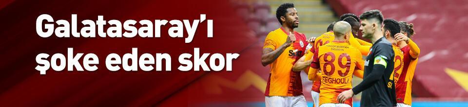 Galatasaray'ı şoke eden skor