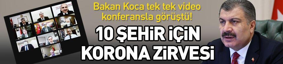 10 şehir için korona zirvesi