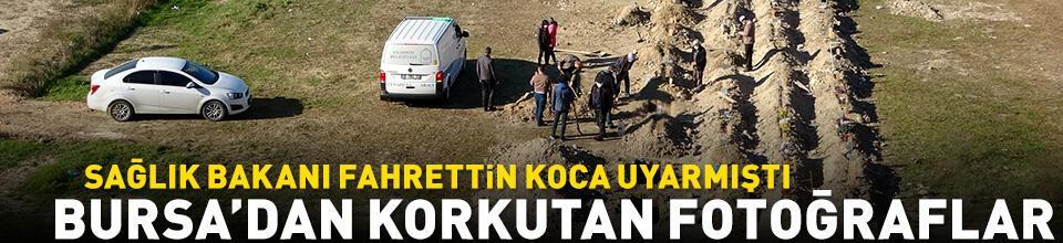 Fotoğraflar bugün ikinci dalganın yaşandığı Bursa'da çekildi