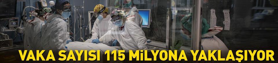 Dünyada COVID-19 vaka sayısı 115 milyona yaklaşıyor