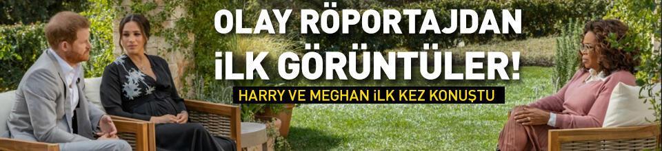 Harry ve Meghan'ın olay röportajından ilk görüntüler
