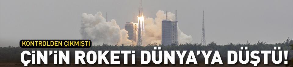 Çin'in kontrolden çıkan roketinin parçaları Dünya'ya düştü