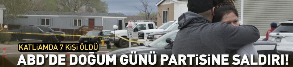 ABD'de doğum günü partisinde silahlı saldırı