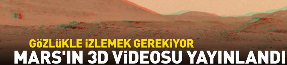 Mars'ın 3D videosu yayınlandı