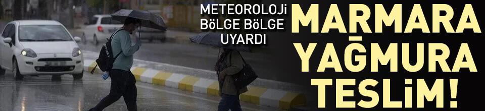 O bölgelere sağanak yağış uyarısı