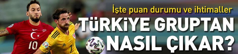 Türkiye gruptan nasıl çıkar? EURO 2020 puan durumu