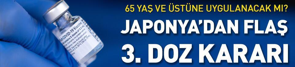 Japonya'dan 65 yaş üstü için üçüncü doz kararı