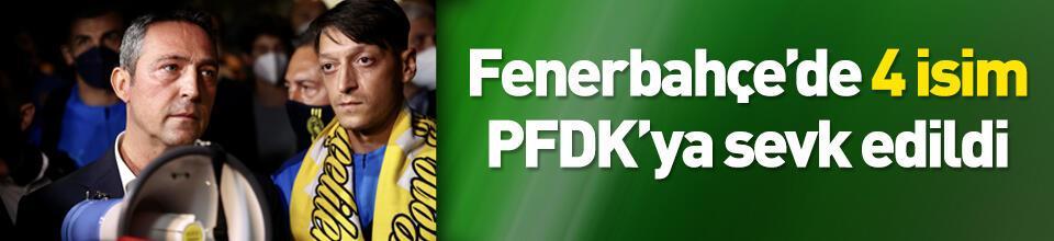 Fenerbahçe'de 3 isim PFDK'ya sevk edildi